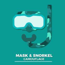 Mask & Snorkel Camouflage